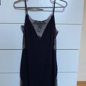 NBD revolve mini dress black sz 4 - like new